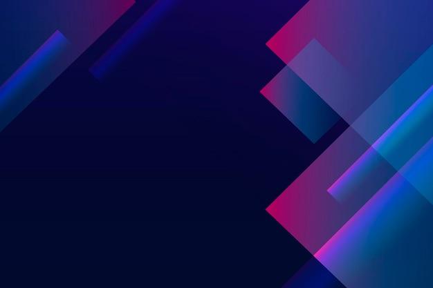 Geometrischer blauer hintergrund, desktop-hintergrundvektor
