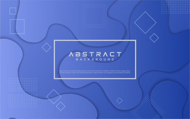 Geometrischer blauer hintergrund mit farbverlauf
