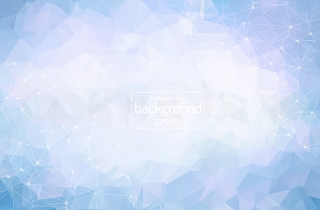 Geometrischer blauer polygonaler hintergrund