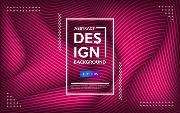 Geometrischer bunter hintergrund der modernen purpurroten abstrakten welle.