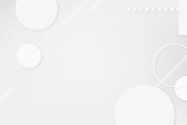 Geometrischer desktop-hintergrund, weißer abstrakter designvektor