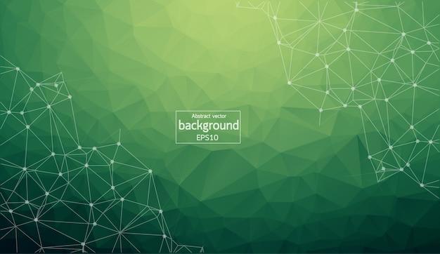 Geometrischer dunkelgrüner polygonaler hintergrund