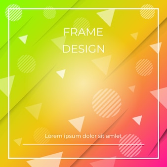 Geometrischer dynamischer diagonaler bunter hintergrund mit dreiecken und kreisformen, papierschatten.