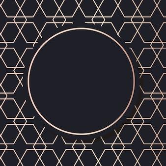 Geometrischer eleganter hintergrund des goldenen rahmenkunstvektors