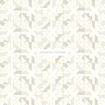 Geometrischer eleganter seameless musterentwurf