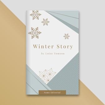 Geometrischer eleganter winterbuchumschlag