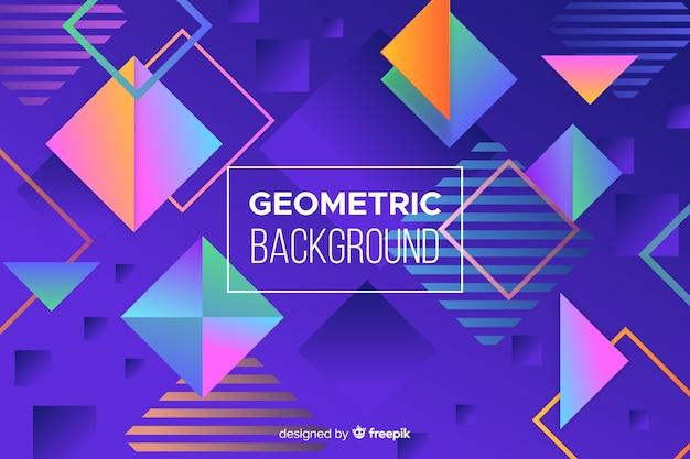 Geometrischer formhintergrund der bunten steigung