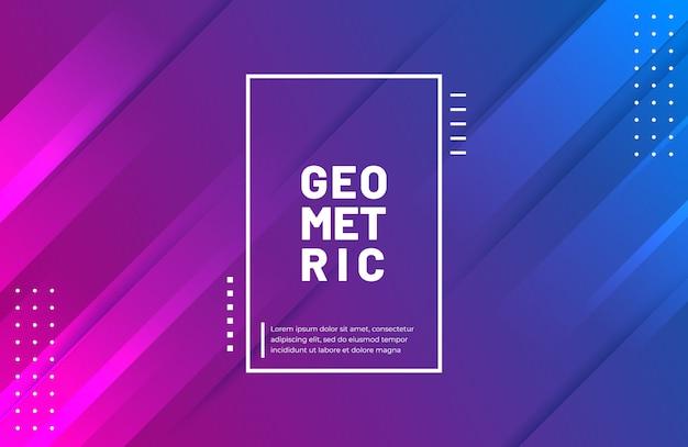 Geometrischer formhintergrund der steigung mit vibrierender farbe