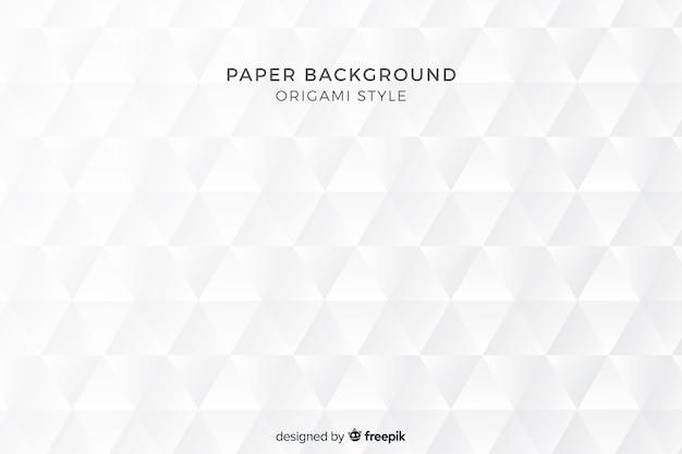 Geometrischer formhintergrund in der papierart