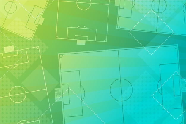 Geometrischer fußballhintergrund mit farbverlauf