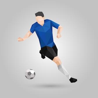 Geometrischer fußballspieler