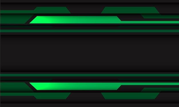 Geometrischer futuristischer technologiehintergrund des abstrakten grünen grauen schaltungs-cyber.