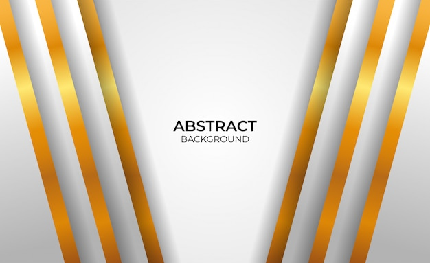 Geometrischer gold- und graustil des abstrakten hintergrunds