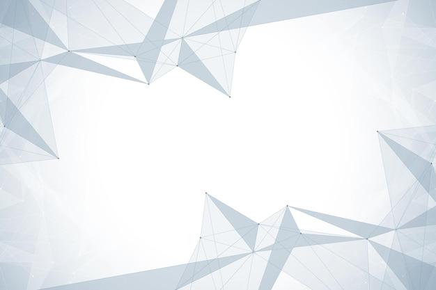Geometrischer grafischer hintergrund. big-data-komplex mit verbindungen. digitale datenvisualisierung.