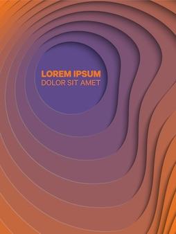 Geometrischer hintergrund 3d mit papier schnitt runde löcher