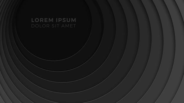 Geometrischer hintergrund 3d mit realistischem papierschnitt