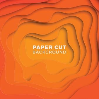 Geometrischer hintergrund 3d mit realistischen papierschnittschichten.