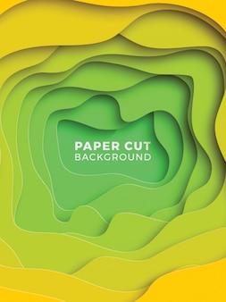 Geometrischer hintergrund 3d mit realistischen papierschnittschichten