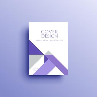 Geometrischer hintergrund bucheinband broschüre flyer vorlage cover design