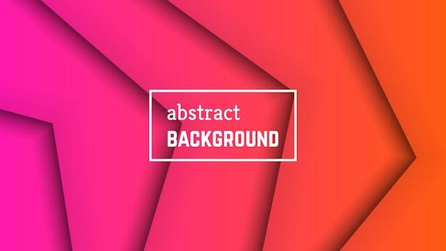 Geometrischer hintergrund der abstrakten minimalen linie. rosa linienform für banner, vorlagen, karten. vektor-illustration.