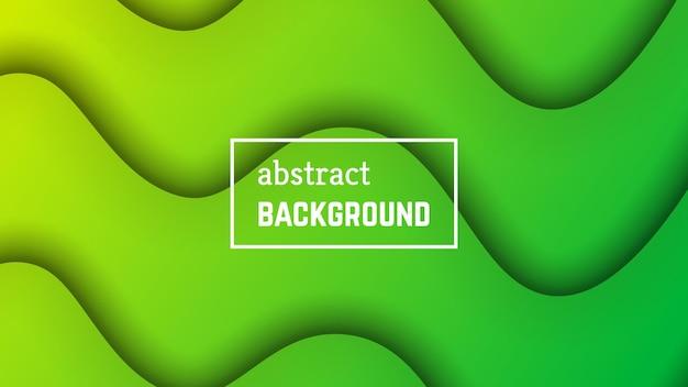 Geometrischer hintergrund der abstrakten minimalen welle. grüne wellenform für banner, vorlagen, karten. vektor-illustration.