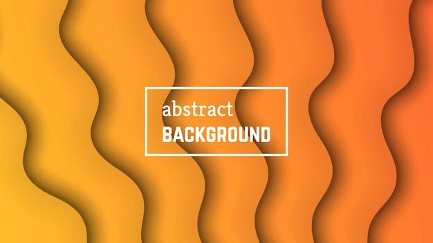 Geometrischer hintergrund der abstrakten minimalen welle. orangefarbene wellenform für banner, vorlagen, karten. vektor-illustration.