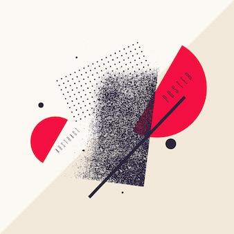 Geometrischer hintergrund der modernen abstrakten kunst mit flachem minimalistischem artvektorplakat