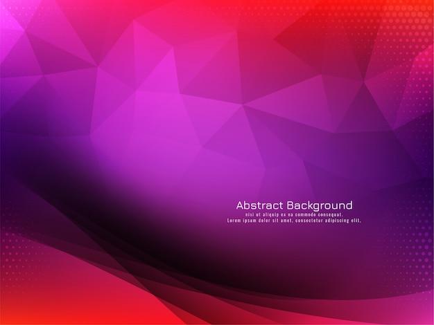 Geometrischer hintergrund des abstrakten wellendesigns