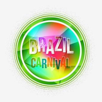 Geometrischer hintergrund des brasilien-karnevalsparteibuchstaben