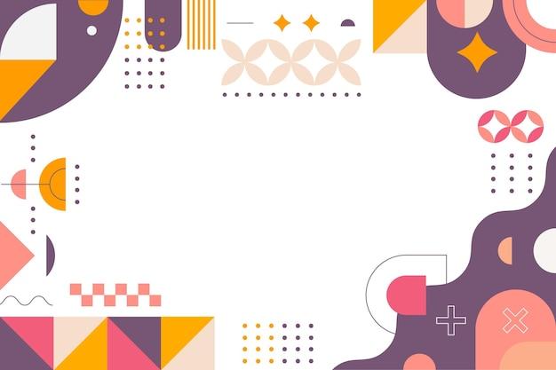 Geometrischer hintergrund des flachen designs