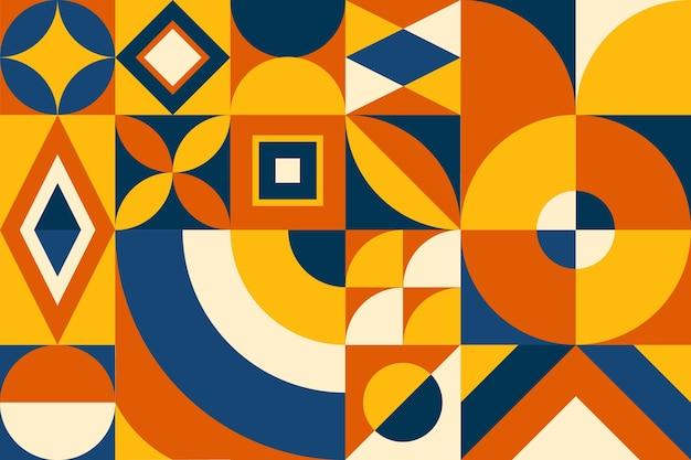 Geometrischer hintergrund des flachen mosaiks