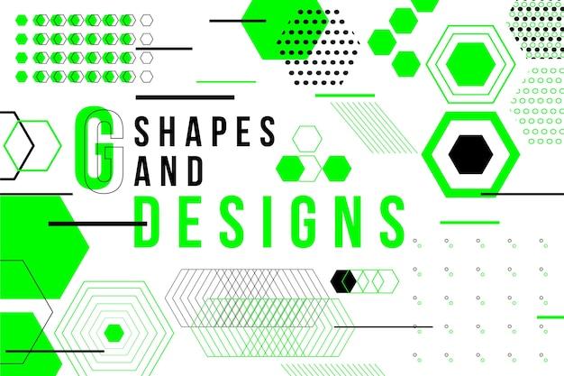 Geometrischer hintergrund des grafikdesigns im memphis-stil
