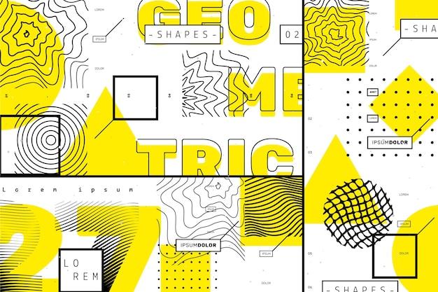 Geometrischer hintergrund des grafikdesigns