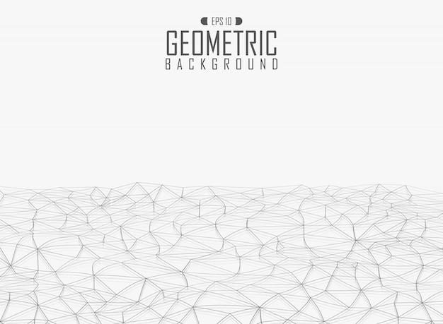 Geometrischer hintergrund des grauen dreieckmusters der welle