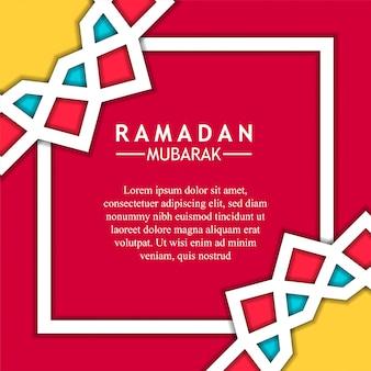 Geometrischer hintergrund des mandala-sternes für ramadan mubarak