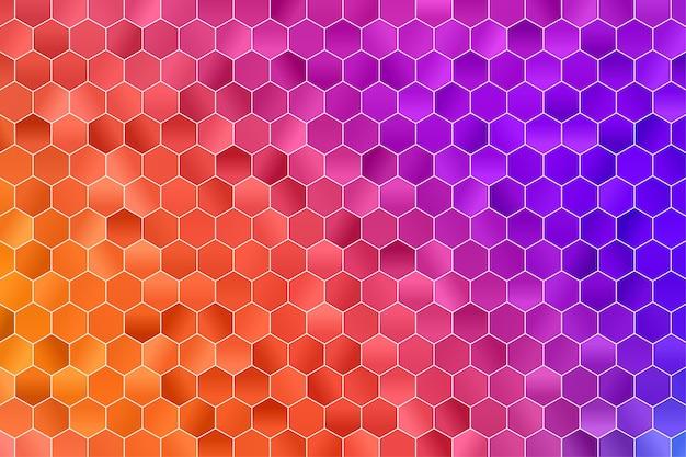 Geometrischer hintergrund des sechsecks. polygon tapete. nahtloses sechseckmuster.