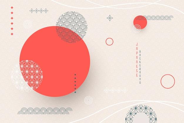 Geometrischer hintergrund im japanischen stil