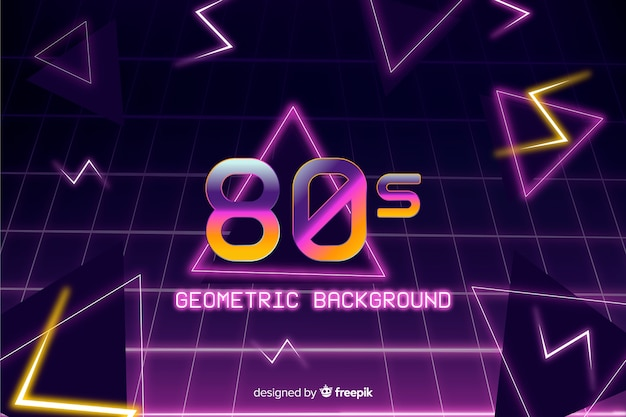 Geometrischer hintergrund in der art 80s