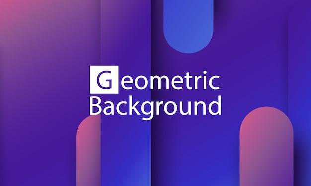 Geometrischer hintergrund. minimales abstraktes cover-design. kreative bunte tapete. trendiges farbverlaufsplakat. vektor-illustration.
