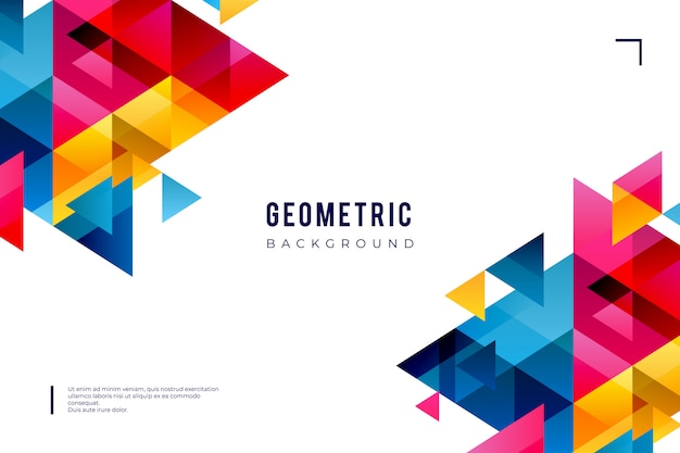 Geometrischer hintergrund mit bunten formen