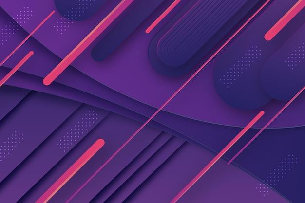 Geometrischer hintergrund mit dynamischen linien im papierstil