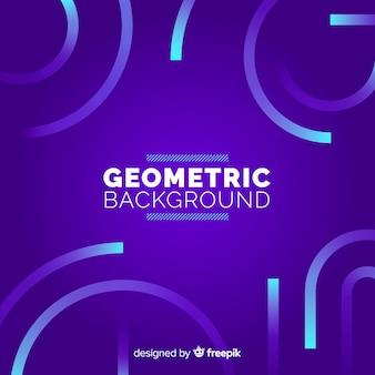Geometrischer hintergrund mit farbverläufen