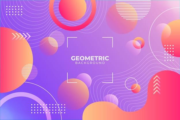 Geometrischer hintergrund mit farbverlauf lila und orange