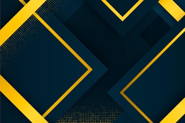 Geometrischer hintergrund mit goldenen details