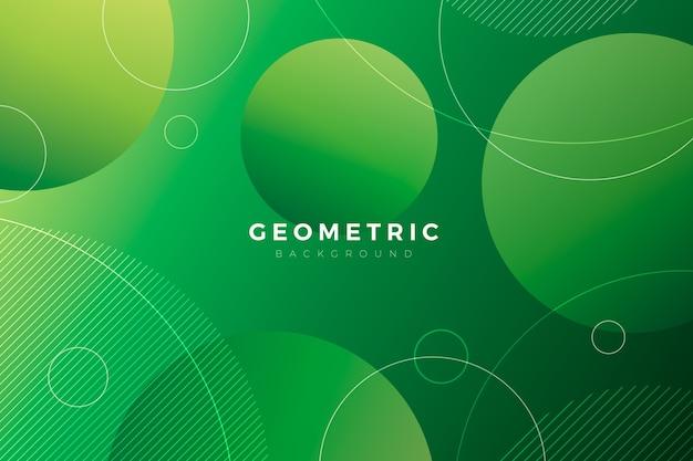 Geometrischer hintergrund mit grünen formen