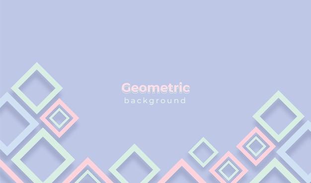 Geometrischer hintergrund mit pastellfarben