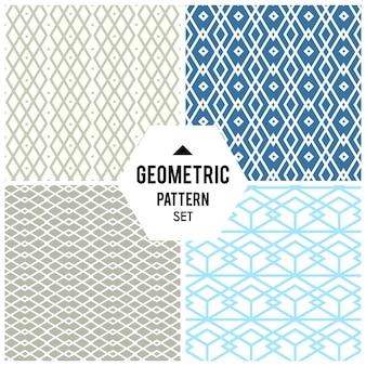Geometrischer hintergrund mit raute und knoten. abstraktes geometrisches muster