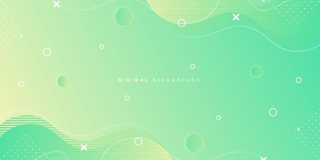 Geometrischer hintergrund mit vibrierender minimaler form