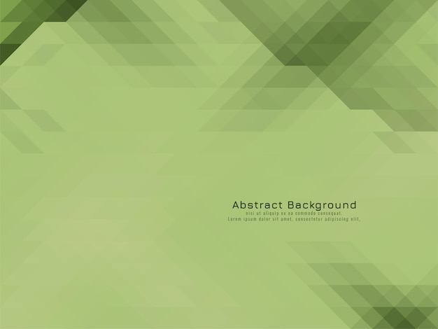 Geometrischer hintergrundvektor des weichen grünen dreieckigen mosaikmusters