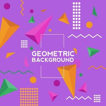 Geometrischer hintergrundvektor